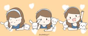 doubledaigirl,搭波呆,圖文創作,插畫家,插畫,日常